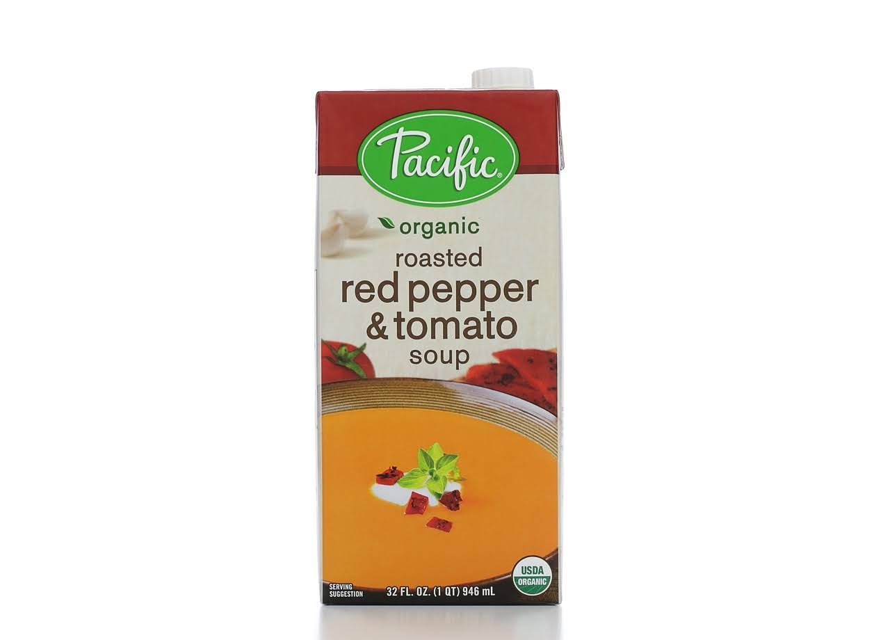 Pacific Organic Soup - Roasted Red Pepper and Tomato, 32 Oz