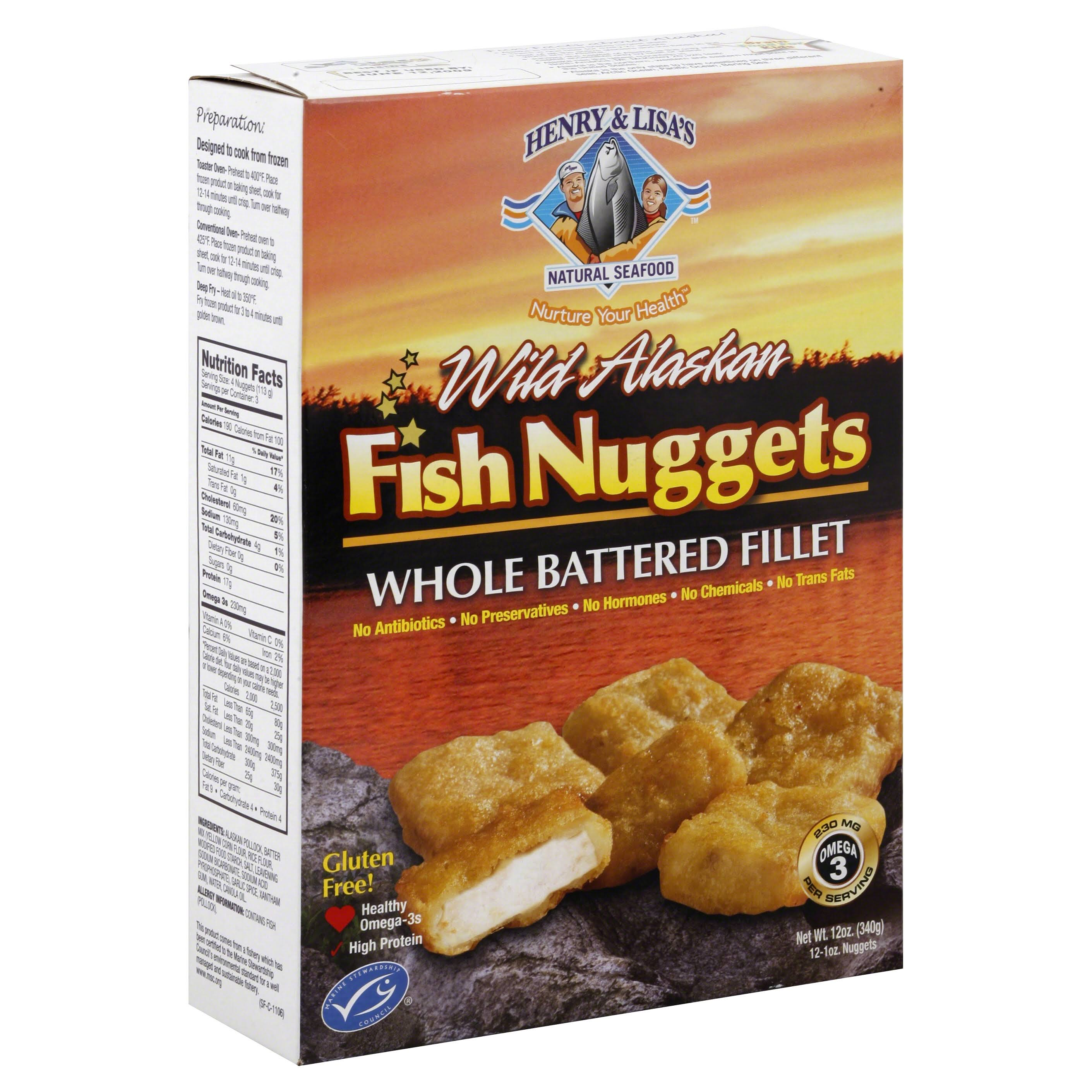 Henry and Lisas Gluten Free Natural Seafood Wild Alaskan Fish Nugget - 12oz, 6pk