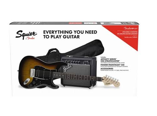 Squier Affinity Series Stratocaster HSS Pack (Brown Sunburst)