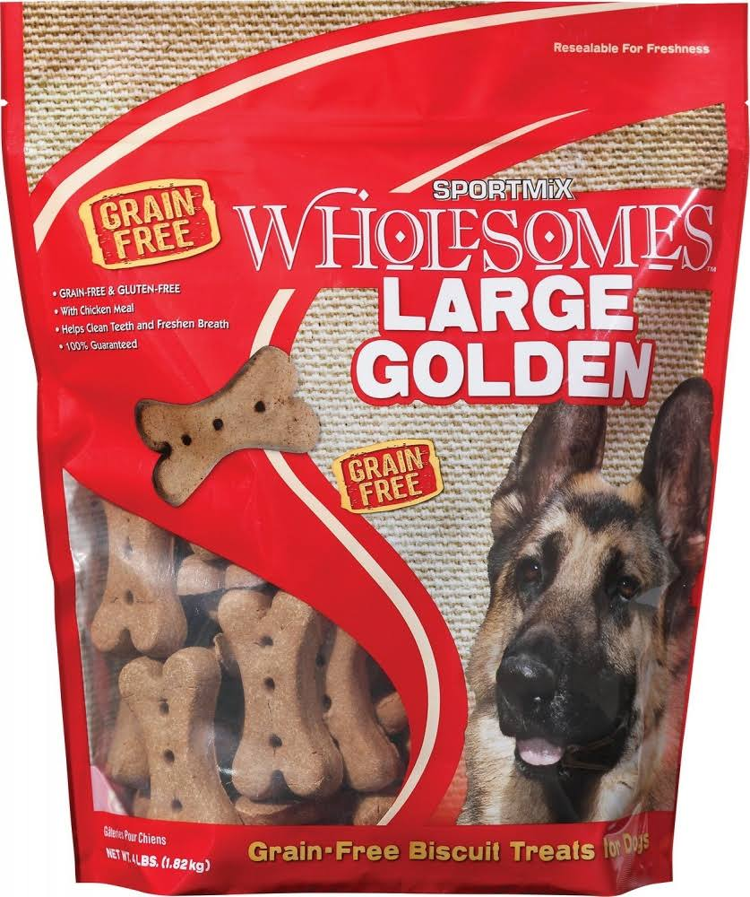 Wells Sportmix Golden Dog Biscuit Treats - Large, 20lbs