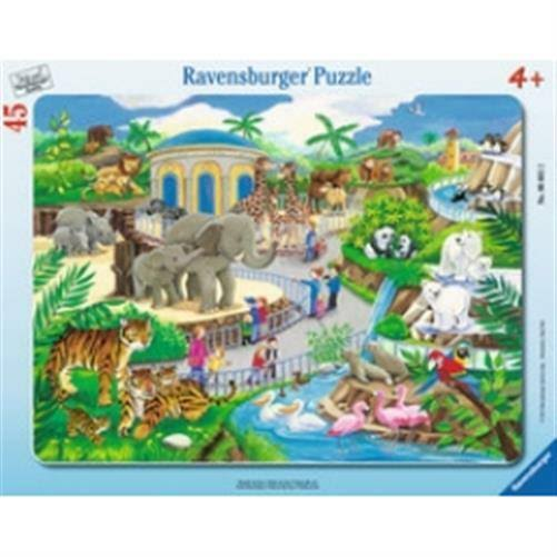 Ravensburger Jigsaw Puzzle - Visit to the Zoo Frame, 45pcs