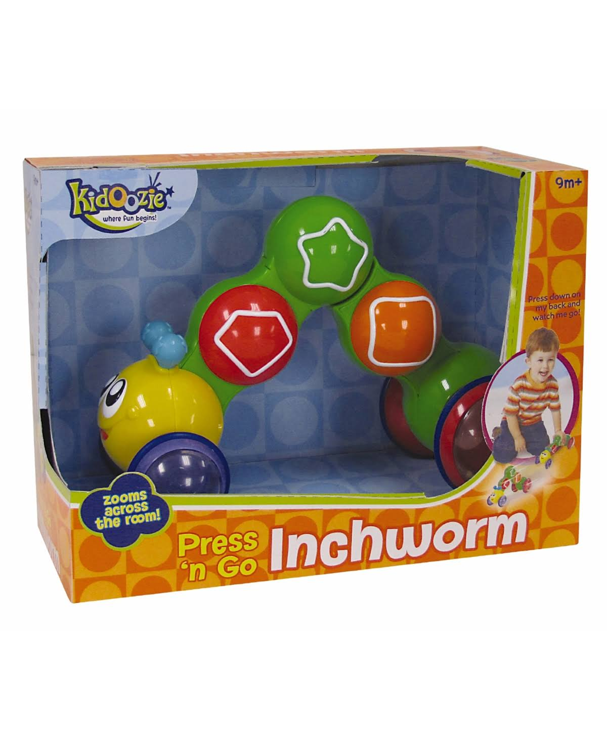 Kidoozie Press N Go Inchworm Toy