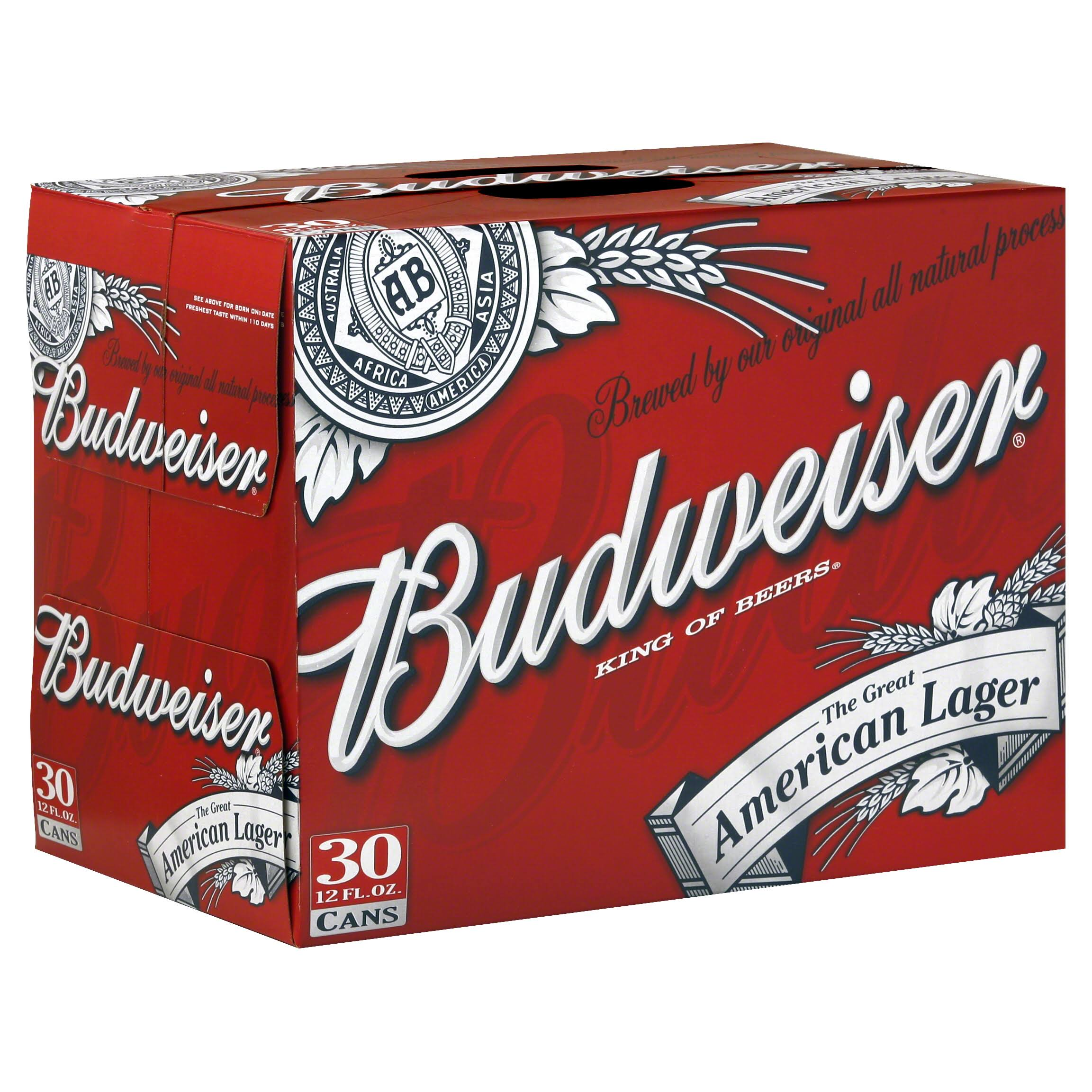 Budweiser Beer - 30 Cans