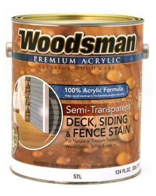 True Value MFG STL7-GL Acrylic Deck Siding and Fence Stain - Semi-Transparent, Cedar, 1gal