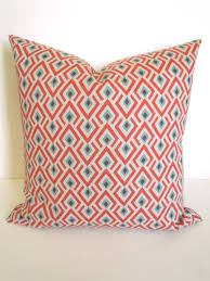 Coral Colored Decorative Items by Coral Pillows Coral Throw Pillows Spa Blue Throw Pillow Covers