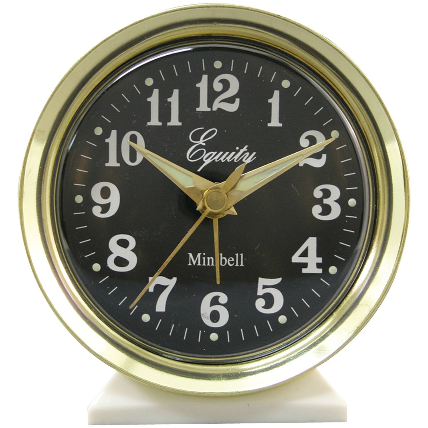 Equity by La Crosse Analog Wind-Up Bell Alarm Clock - Gold