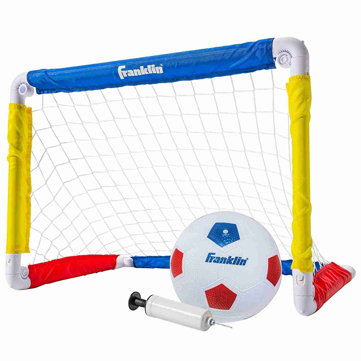 Franklin Sports Kids Soccer Goal with Ball and Pump - Multi