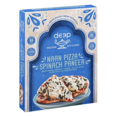 Deep Indian Kitchen Pizza, Naan, Spinach Paneer - 8.5 oz