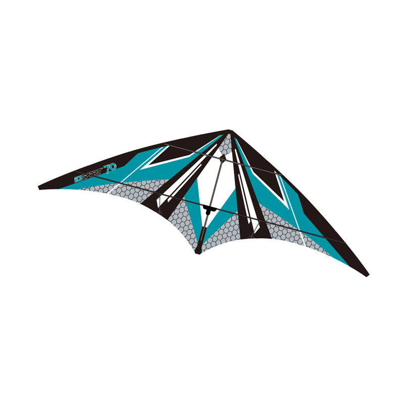 Brainstorm EZ Sports 70in Nylon Kite with Fiberglass Airframe Wind N Sun Kites Teal