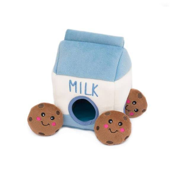 ZippyPaws Burrow Dog Toy - Milk and Cookies