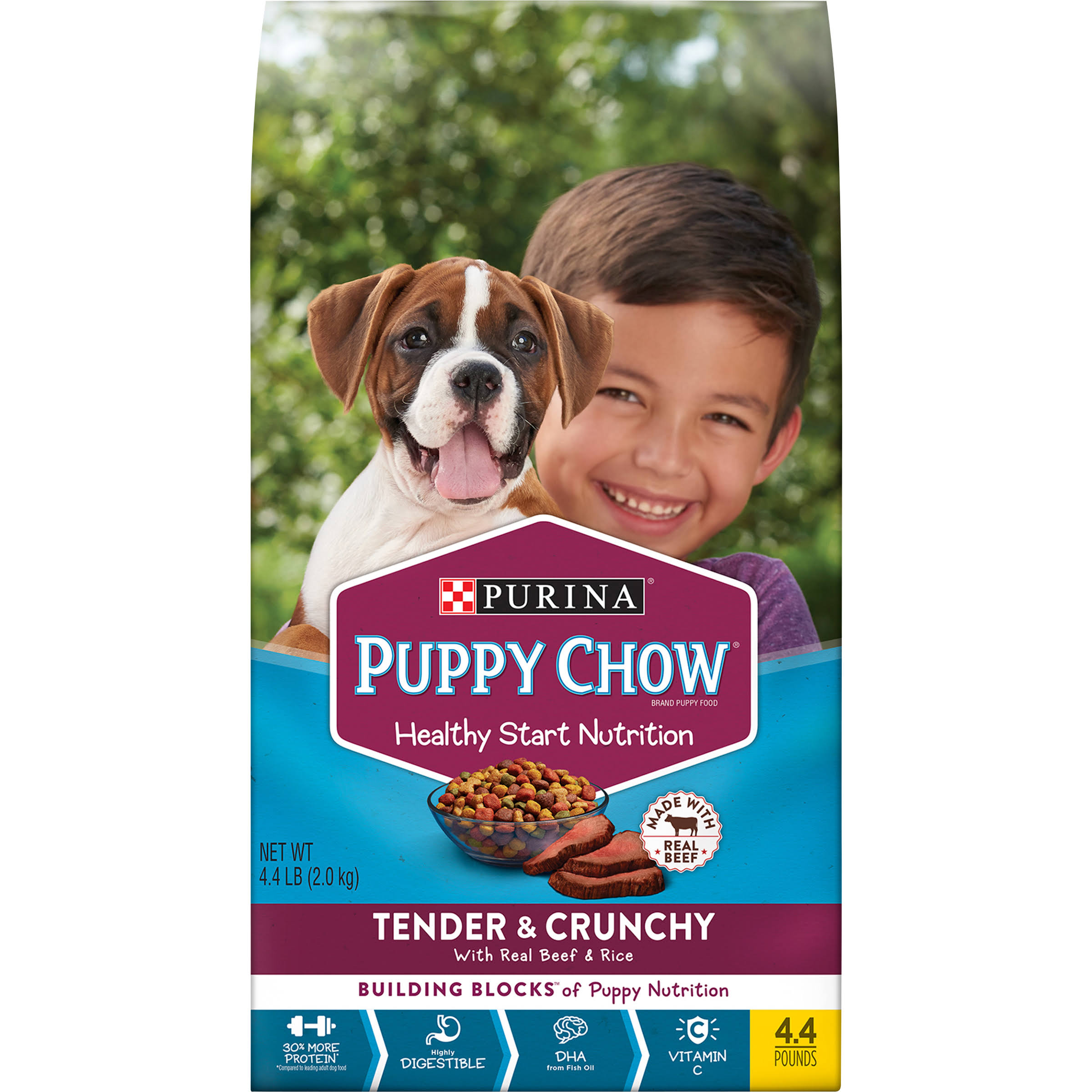 Purina Puppy Chow Puppy Food, Tender & Crunchy - 4.4 lb