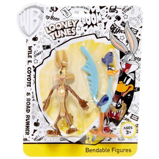 Bendable Wile E Coyote and Roadrunner Figure Toy