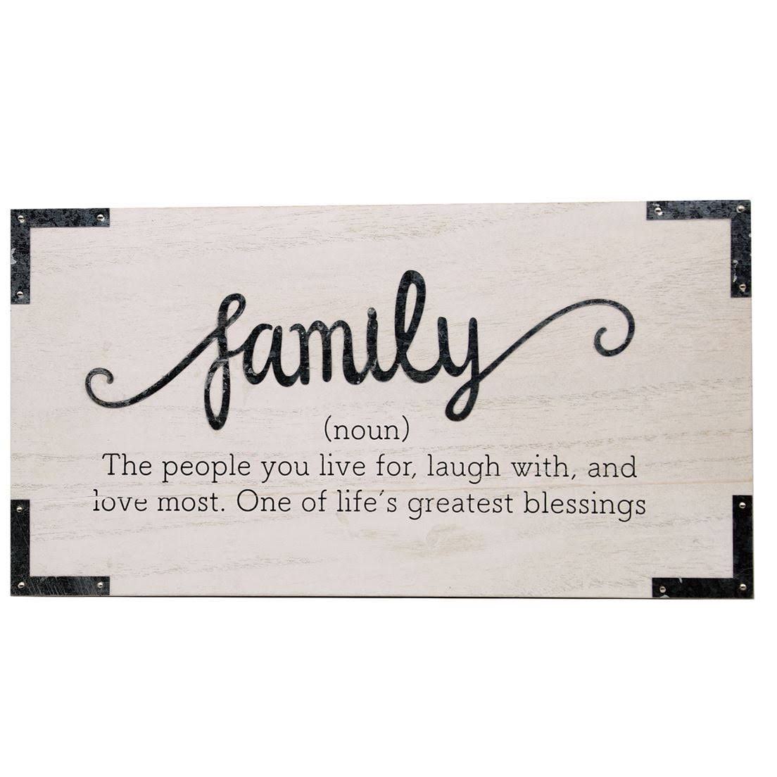 Dennis East 11930 - Family Wall Sign Size: 8 inch x 15 inch Wall Decor Word Art