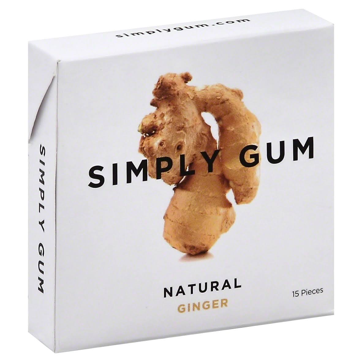 Simply Natural Ginger Chewing Gum - 15ct
