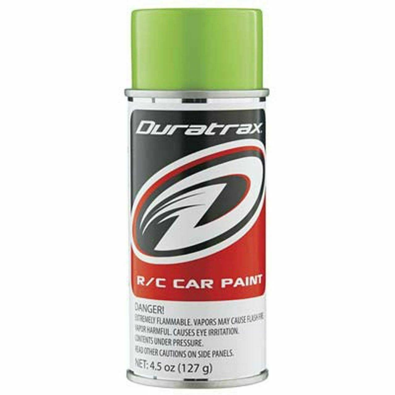Duratrax Polycarbonate Radio Control Vehicle Body Spray Paint - 4.5oz, Lime Pearl