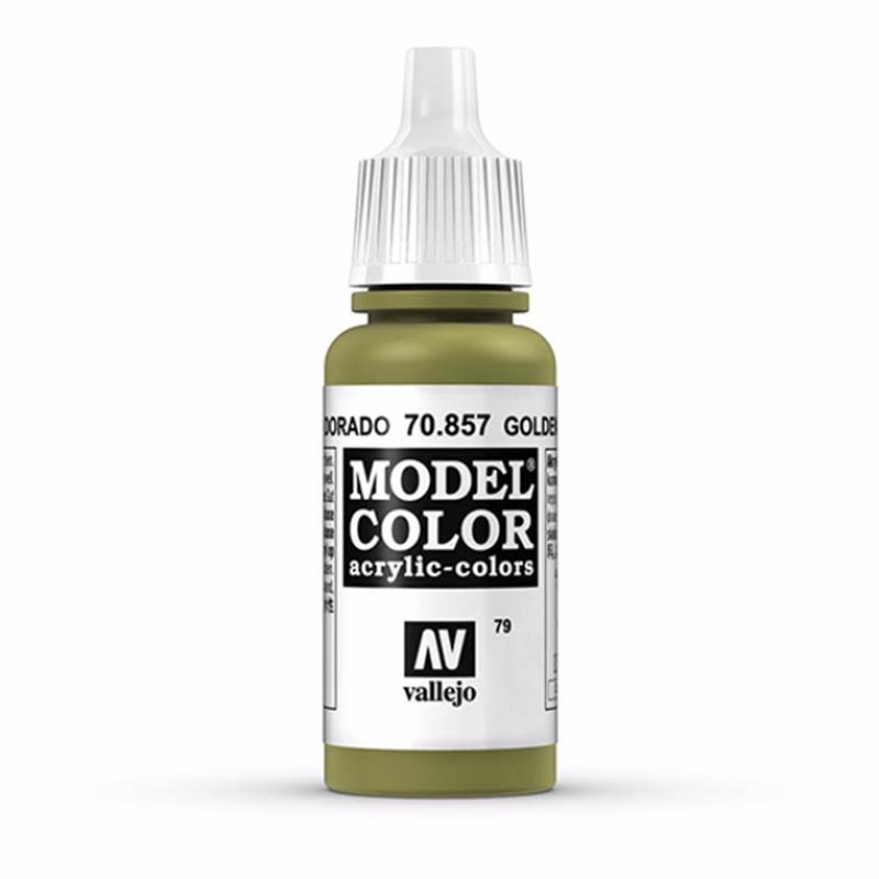 Vallejo Paint Model Color Acrylic Paint - 17ml, Golden Olive