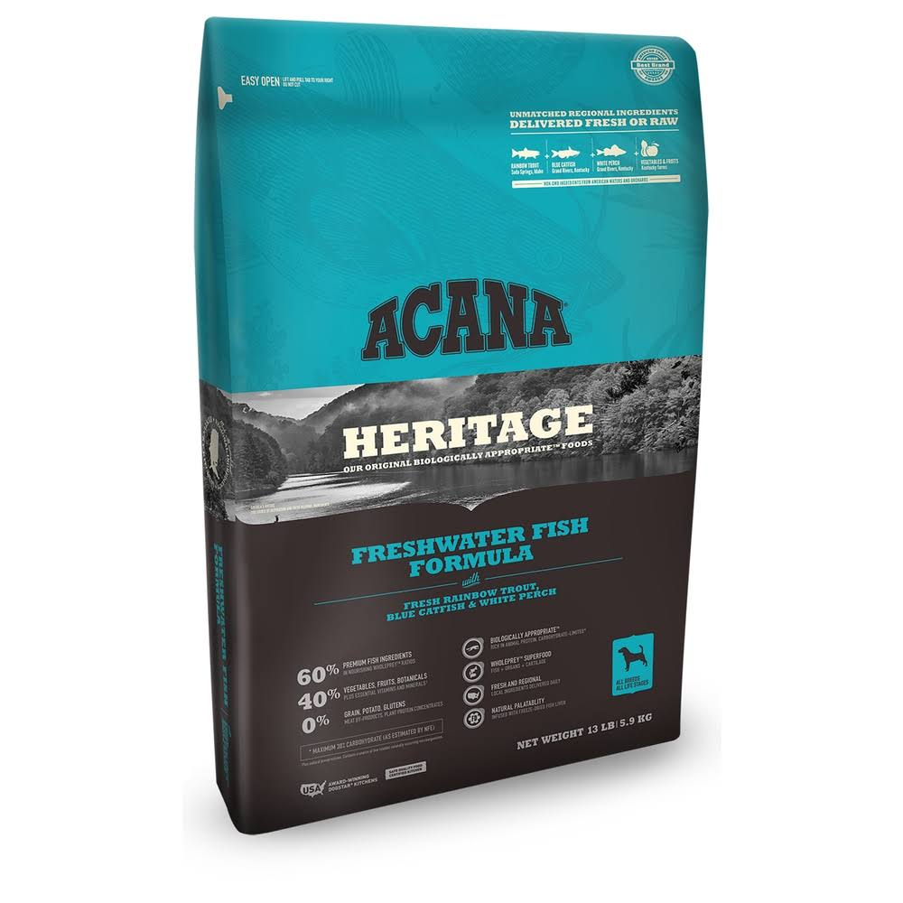 ACANA Freshwater Fish Heritage Dog Food 25 lb
