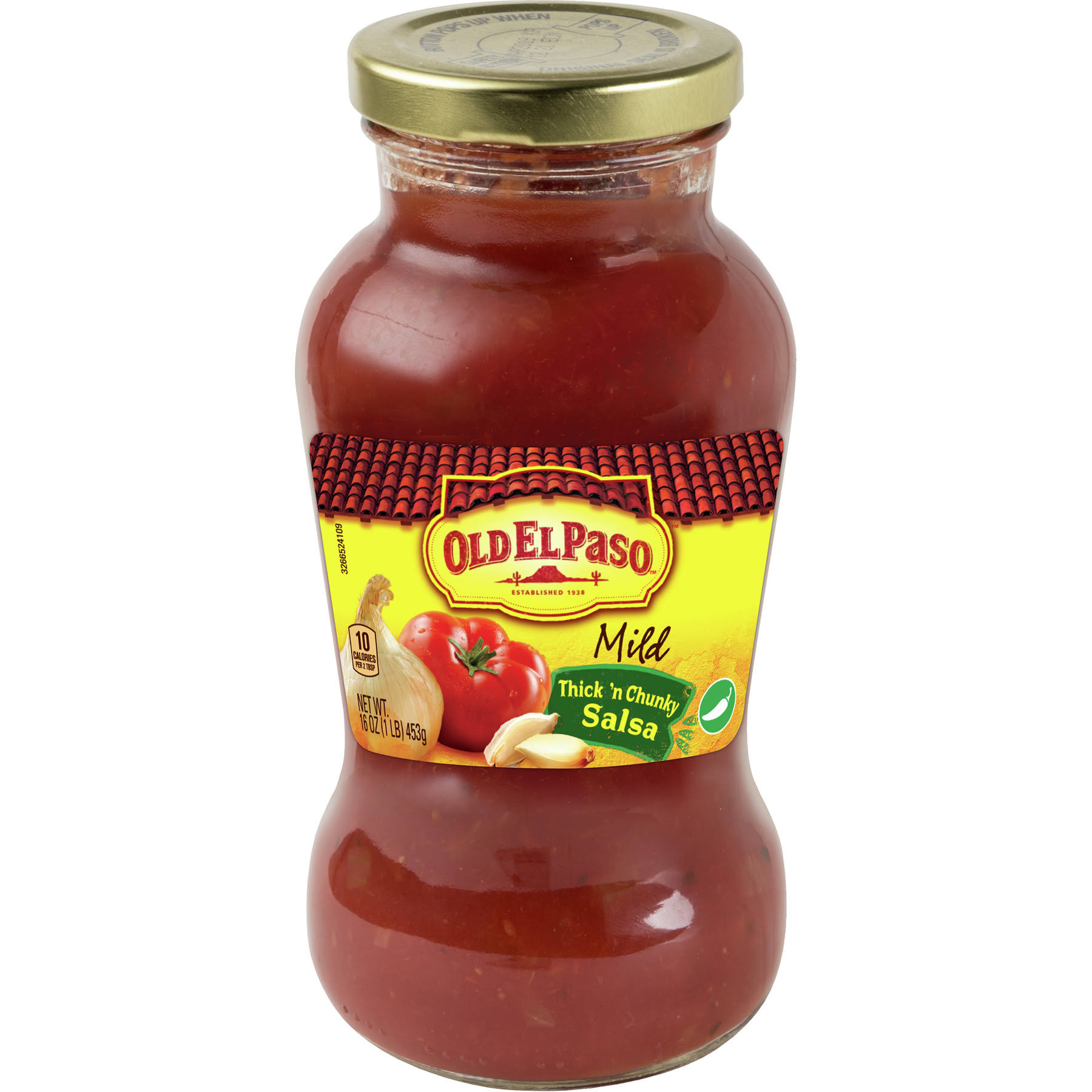 Old El Paso Salsa, Thick 'n Chunky, Mild - 16 oz