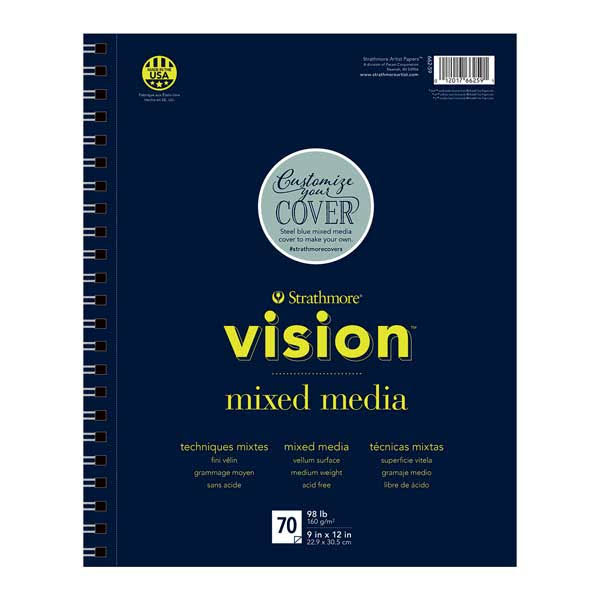 Strathmore Vision Custom Mixed Media Pad - 9in x 12in