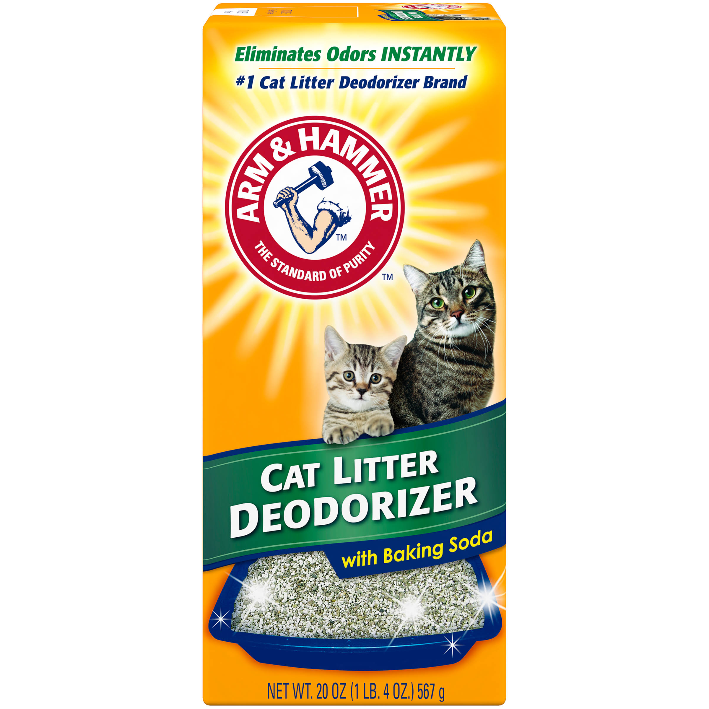 Arm and Hammer Cat Litter Deodorizer - with Baking Soda, 20oz