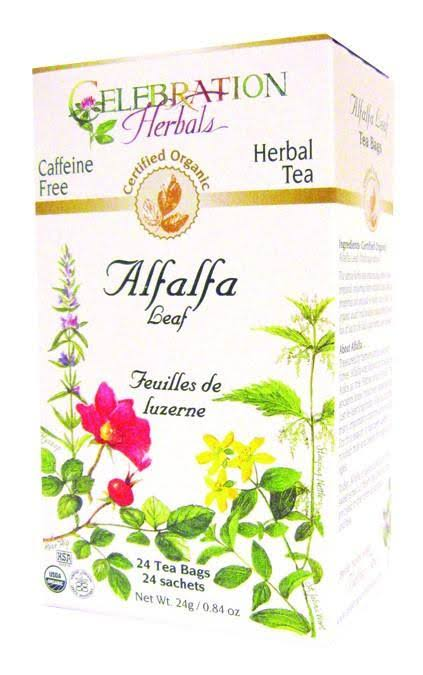 Celebration Herbals Tea - Alfalfa Leaf, 24 Tea Bags