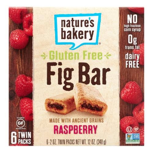 Natures Bakery Raspberry Fig Bar - 6 Twin Pack, 2oz