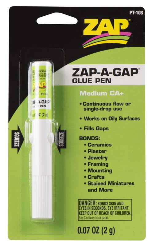 Zap Adhesives PT103 Zap-a-gap Ca Plus Glue Pen - 2g, Multi-colored