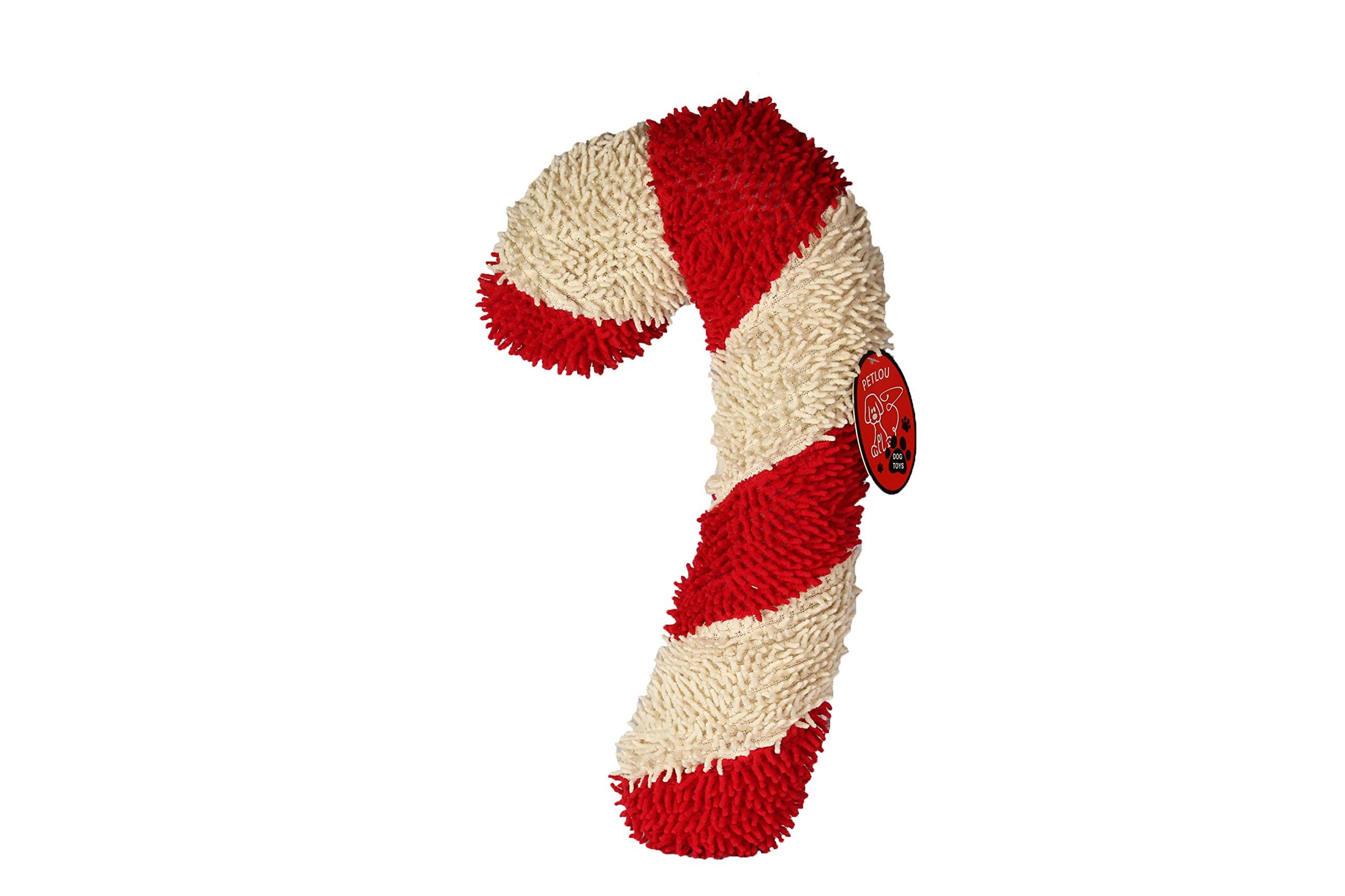 Petlou Twisted Candy Cane Dog Toy