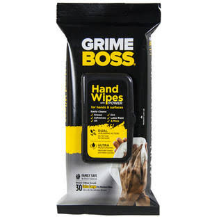 Grime Boss A541S30X Hand and Surface Wipes - 1Pack of 30Wipes