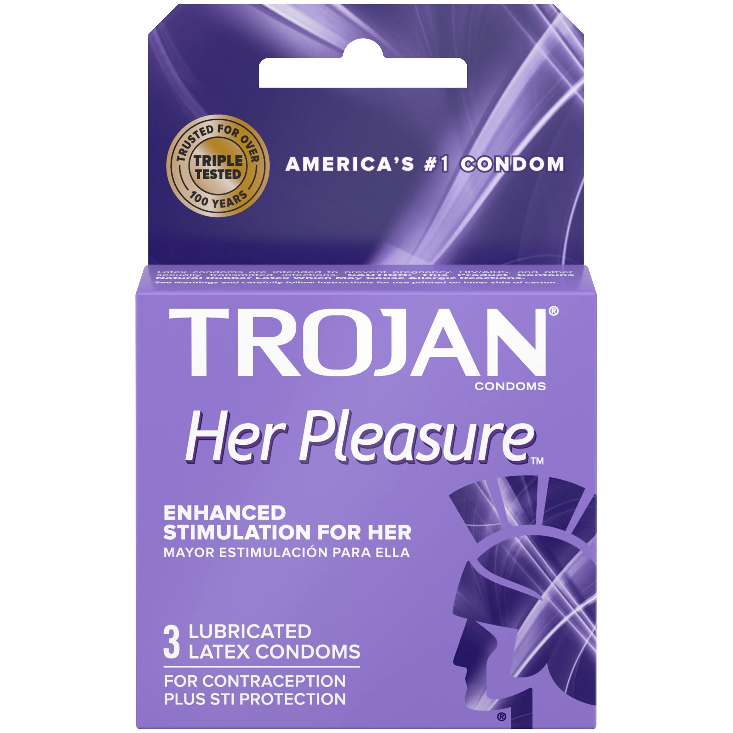 Trojan Her Pleasure Lubricated Condoms