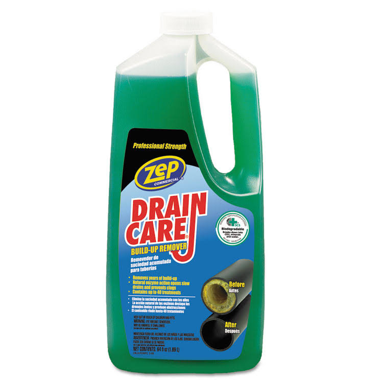 Zep Commercial Drain Care Liquid Drain Cleaner - 64oz