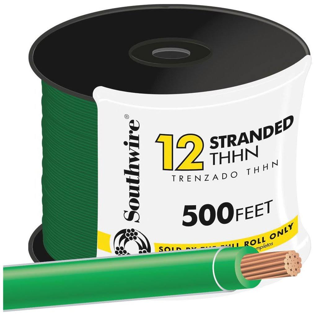 Southwire Company Stranded Thhn Wire - Green, 500'