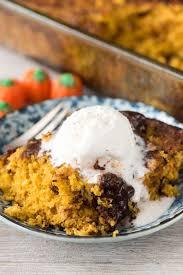 Cake Mix And Pumpkin by Pumpkin Fudge Pudding Cake Crazy For Crust