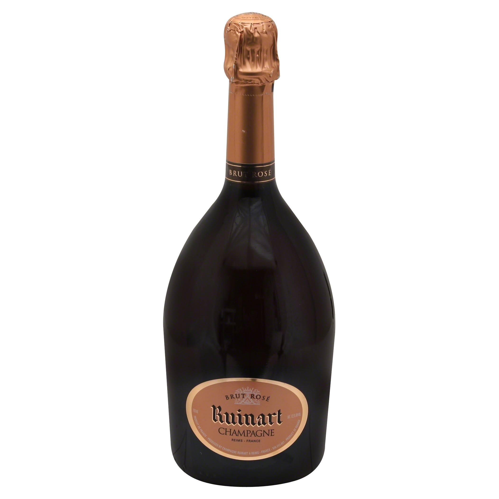 Ruinart Champagne, Brut Rose, Reims France - 750 ml