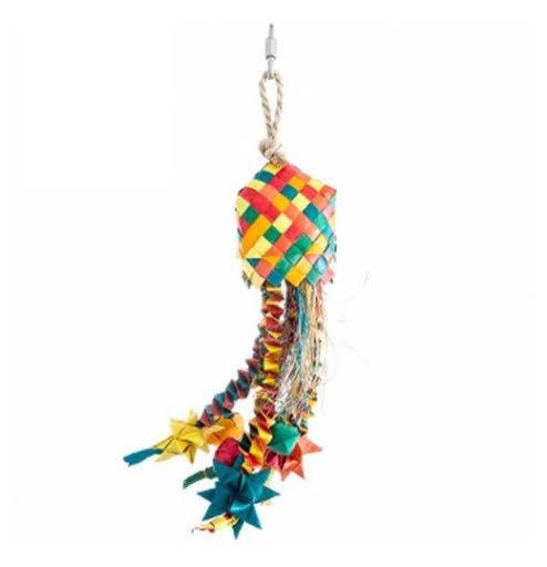 Small Hari Rustic Treasures Star Basket Bird Toy
