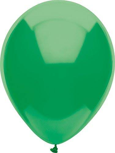 "PartyMate Round Solid Color Latex Balloons - 15ct, 12"", Deep Jade"