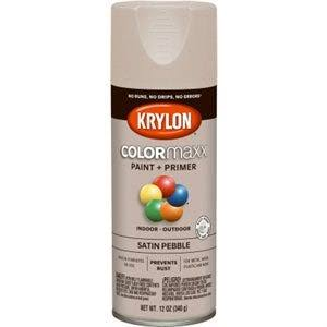 Krylon K05572007 COLORmaxx Spray Paint Satin Pebble Blue 12 Ounce