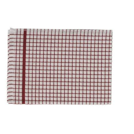 Lamont Poli Dri Premium Quality Kitchen Tea Towels - Red, 3 Pack