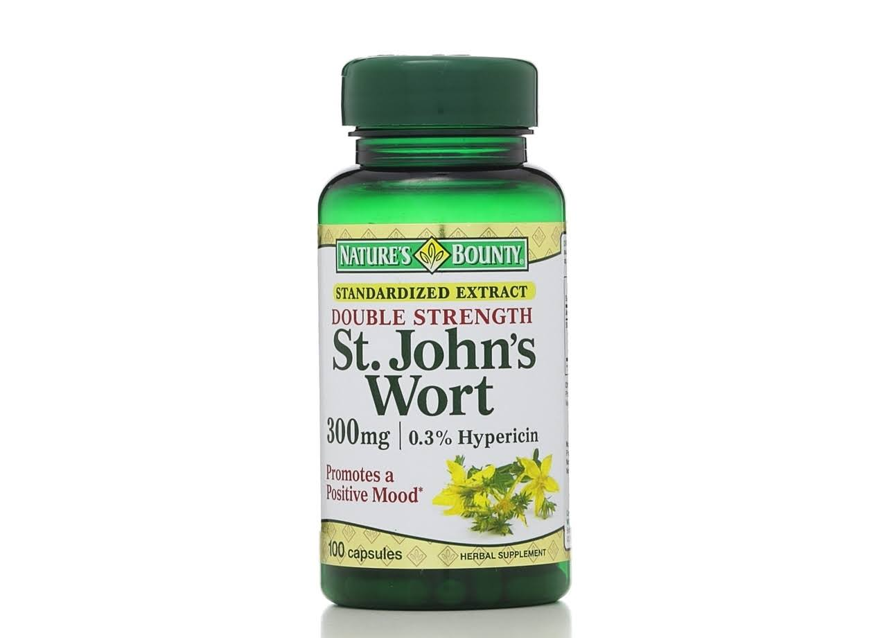 Nature's Bounty St. John's Wort Herbal Supplement - 300mg, 100 Capsules