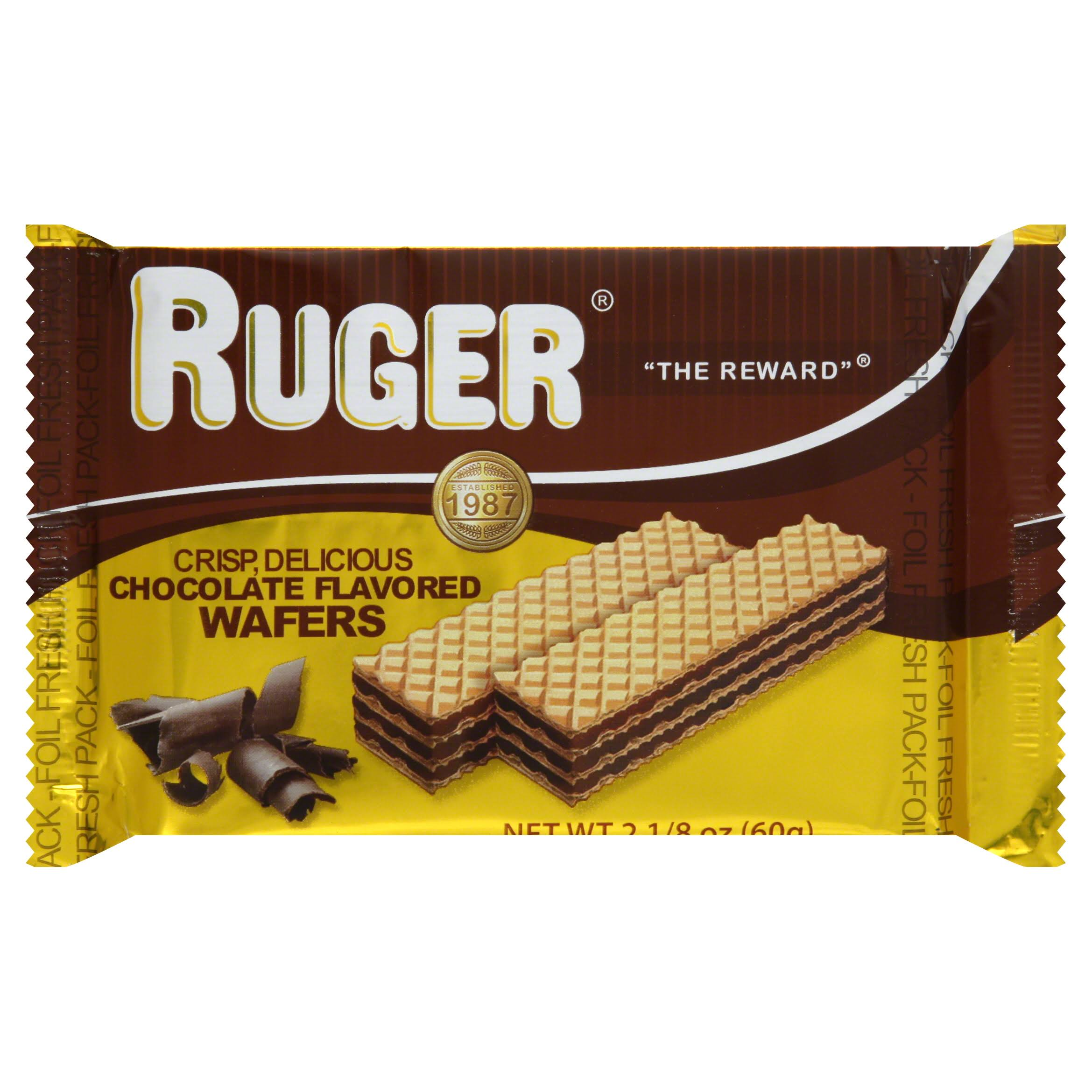 Ruger Wafers - 60g, Chocolate