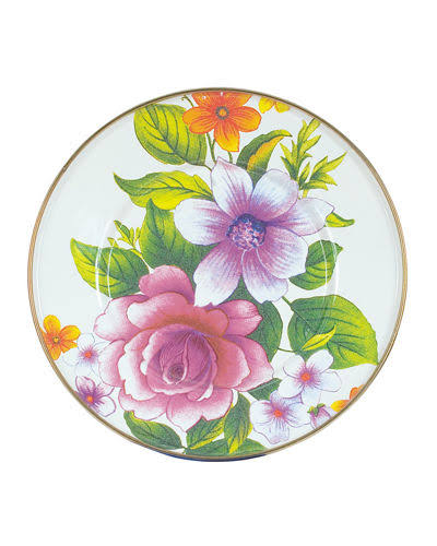 MacKenzie-Childs Flower Market Charger Plate, White