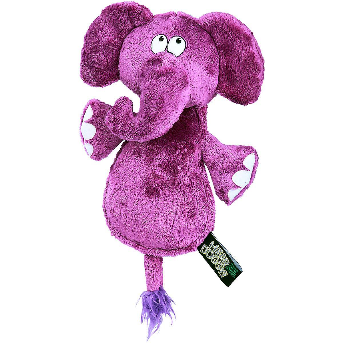Hear Doggy Chew Guard Flats Toy - Elephant, Purple