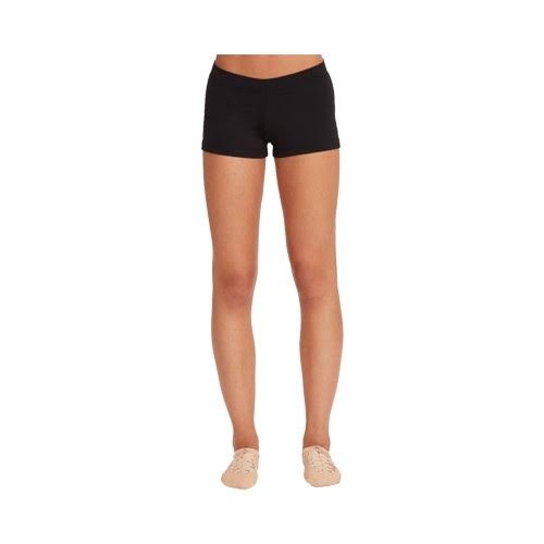 Capezio Boy Cut Low Rise Short - Black, X-Small