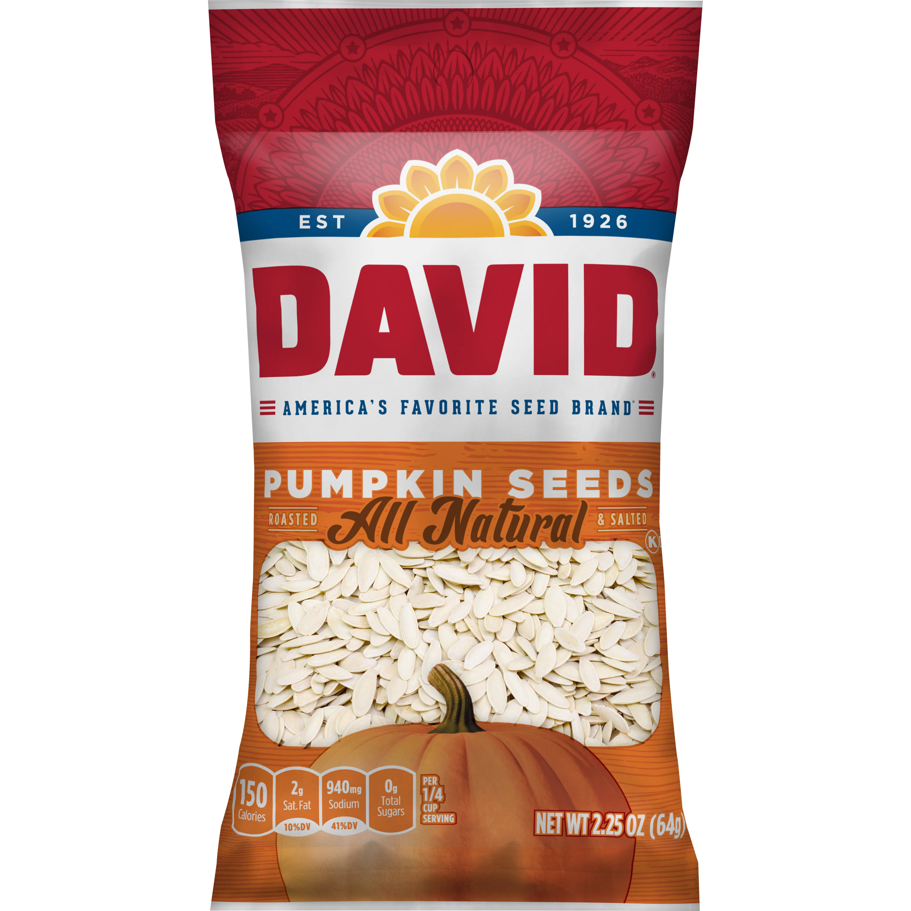 David's Pumpkin Seeds - 2.25oz