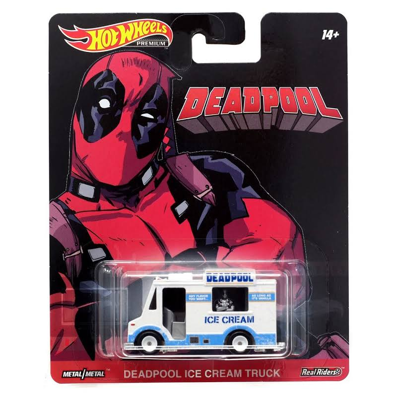 Hot Wheels Replica Entertainment: Deadpool Ice Cream Truck die-cast