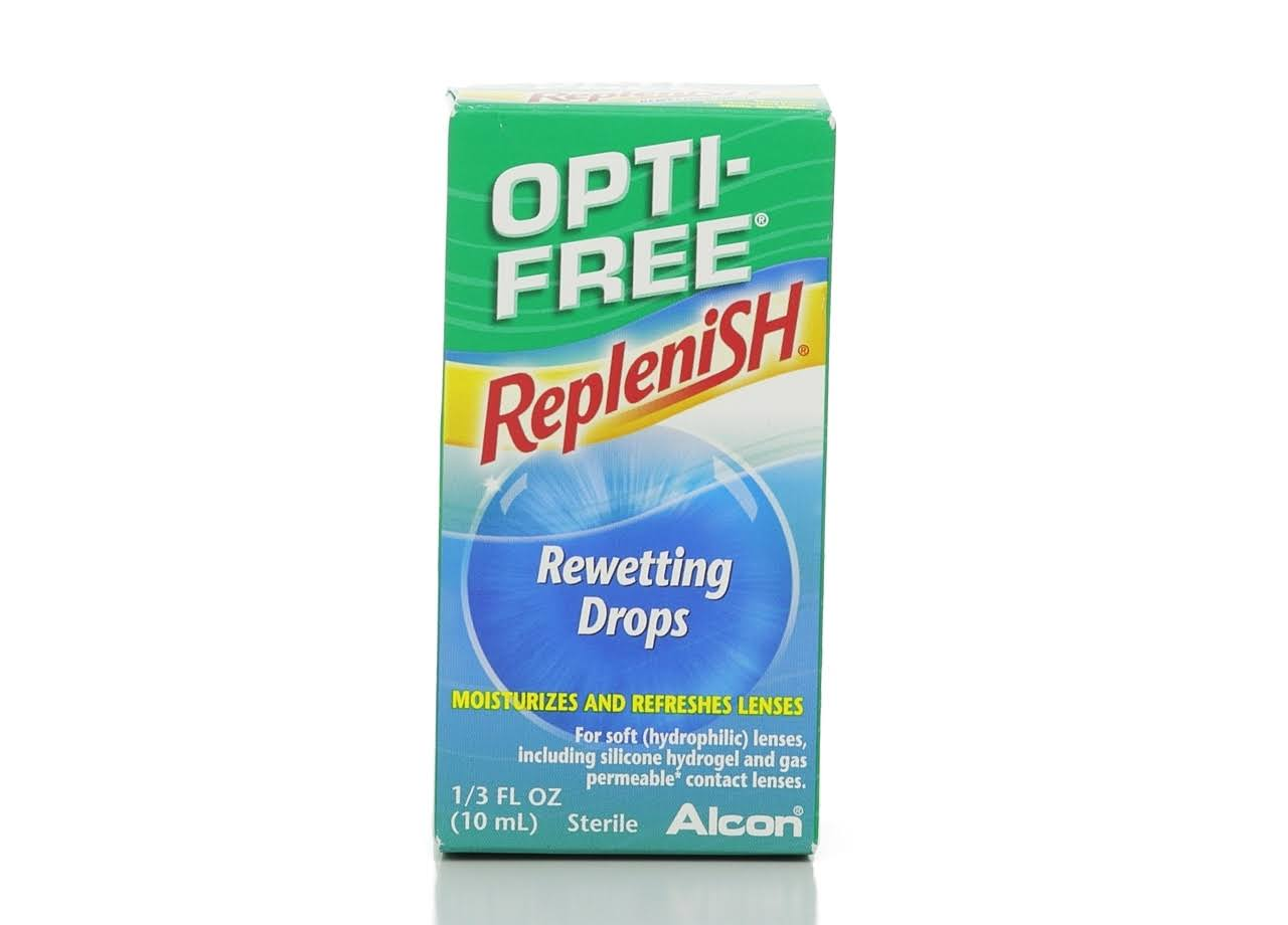 Alcon Opti-Free Replenish Rewetting Drops - 10ml