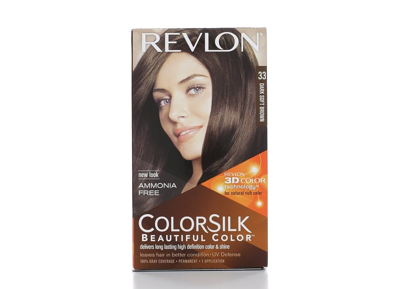Revlon Colorsilk Permanent Hair Color - 33 Dark Soft Brown