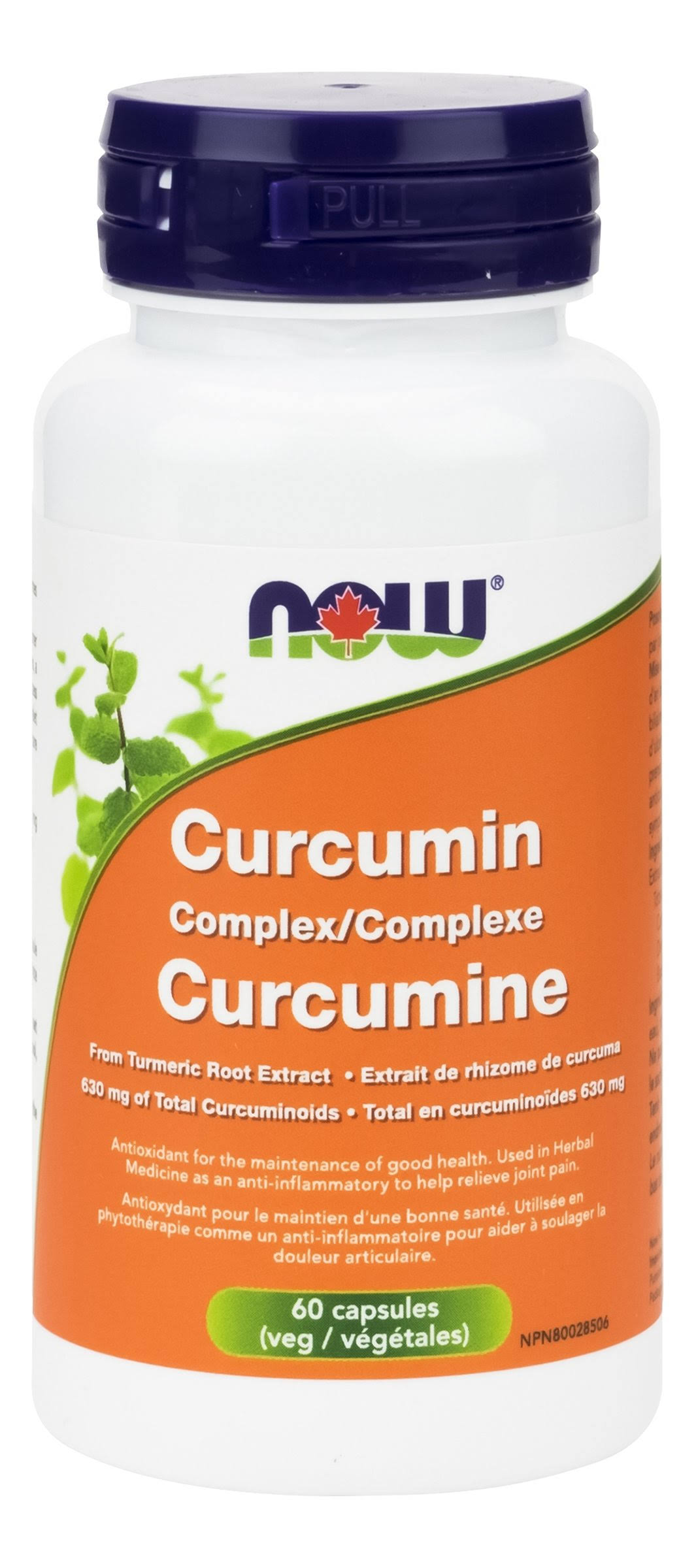 Now High Potency Curcumin Complex Supplement - 60 Veggie Capsules