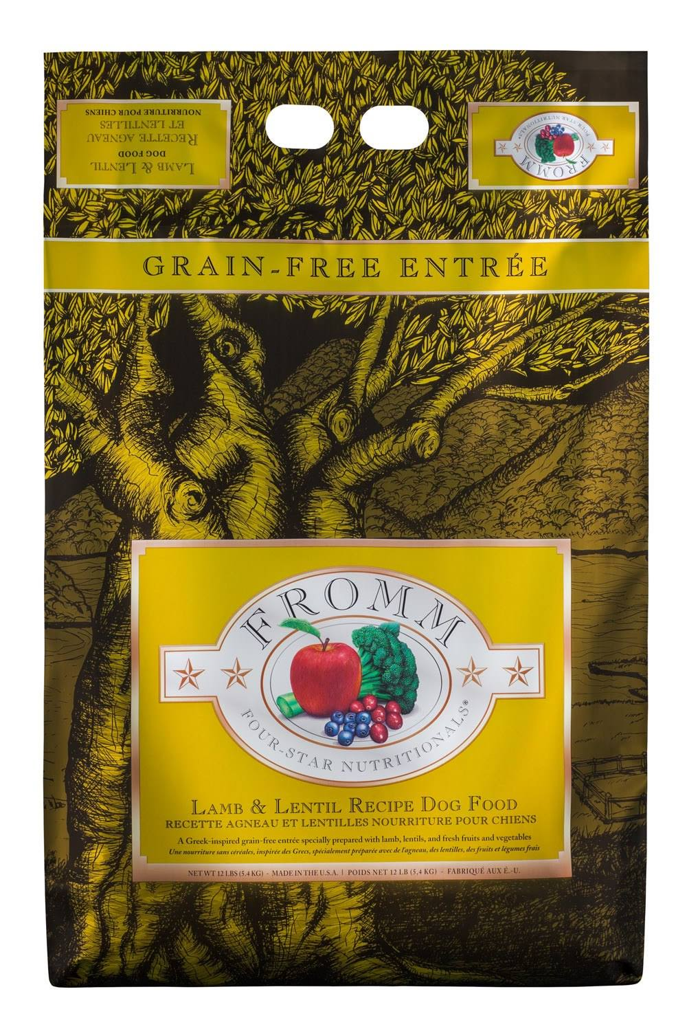 Fromm Four Star Grain Free Dog Food - Lamb and Lentil, Dry