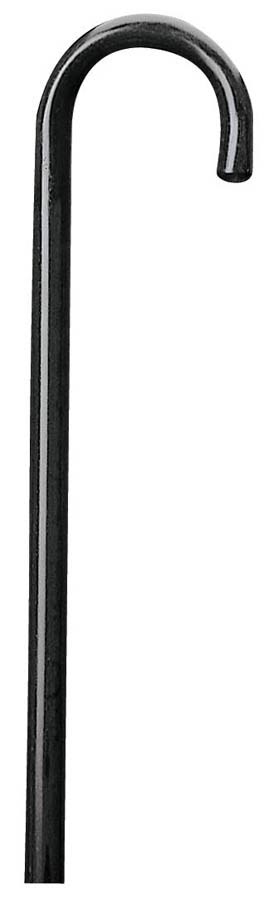 Carex Health Brands Round Handle Wood Cane - Black
